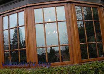 Скляна деревина - нове слово в дизайні дерев'яних вікон