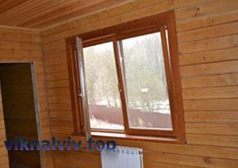 Дерев'яні вікна для лазні