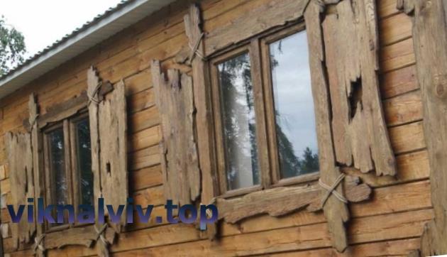 Дерев'яні вікна під старовину